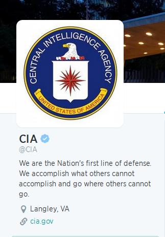 Suposta conta da agência Americana